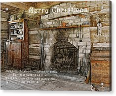 Keep Christmas Merry Acrylic Print by Michael Peychich