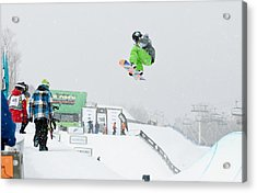 Kelly Clark Womens U S Snow Boarding Open 2011 Acrylic Print by Linda Pulvermacher