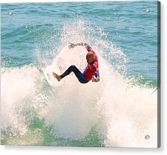 Kelly Slater Us Open Of Surfing 2012     6 Acrylic Print by Jason Waugh