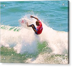 Kelly Slater Us Open Of Surfing 2012     8 Acrylic Print by Jason Waugh