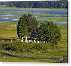 Kennebunkport Farmhouse Graves Acrylic Print by Dave Saltonstall