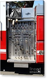 Kensington Fire District Fire Engine Control Panel . 7d15856 Acrylic Print by Wingsdomain Art and Photography