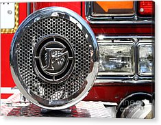 Kensington Fire District Fire Engine Siren . 7d15880 Acrylic Print by Wingsdomain Art and Photography