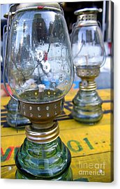Kerosene Lamps Acrylic Print by Yali Shi