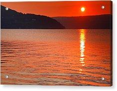 Keuka Sunrise  Acrylic Print by Steven Ainsworth