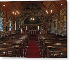 Kilmore Church Dervaig Acrylic Print by Steve Watson