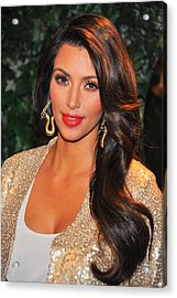 Kim Kardashian At Arrivals For Qvc Red Acrylic Print by Everett