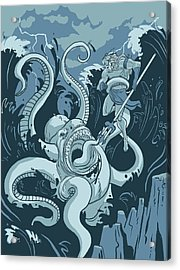 King Neptune Acrylic Print by Michael Myers
