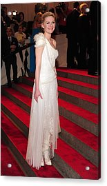Kirsten Dunst  Wearing A Dress Acrylic Print by Everett