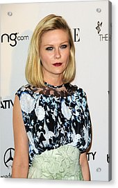 Kirsten Dunst Wearing A Rodarte Dress Acrylic Print by Everett
