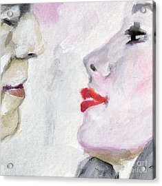 Kiss Me  Acrylic Print by Ginette Callaway