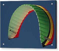 Kite Boarding Sail Acrylic Print by Carolyn Olney
