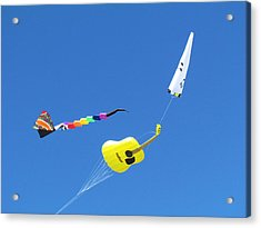 Kite's Acrylic Print by Joyce Woodhouse