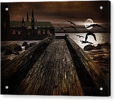 Knight's View Acrylic Print by Lourry Legarde