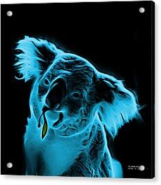 Koala Pop Art - Cyan Acrylic Print by James Ahn