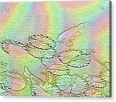 Koi Rainbow Acrylic Print by Tim Allen