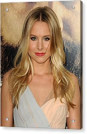 Kristen Bell At Arrivals For The Acrylic Print by Everett