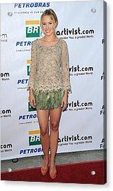Kristen Bell Wearing An Alberta Acrylic Print by Everett