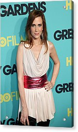 Kristen Wiig At Arrivals For Grey Acrylic Print by Everett