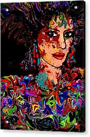 La Bella Acrylic Print by Natalie Holland