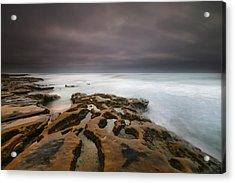 La Jolla Reef Sunset 5 Acrylic Print by Larry Marshall