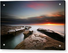 La Jolla Reef Sunset 7 Acrylic Print by Larry Marshall
