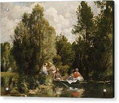 La Mare Aux Fees Acrylic Print by Pierre Auguste Renoir