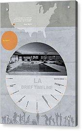 La Poster Acrylic Print by Naxart Studio