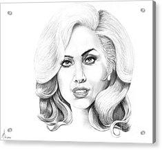 Lady Gaga Acrylic Print by Murphy Elliott