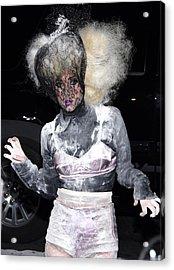 Lady Gaga Wearing A Marc Jacobs Bra Acrylic Print by Everett