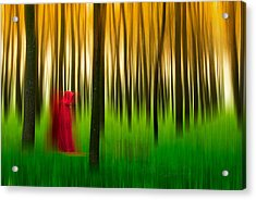 Lady In Red - 3 Acrylic Print by Okan YILMAZ