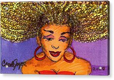 Lady In Red Acrylic Print by Carole Joyce
