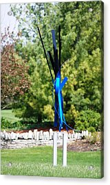 Lady In The Tight Blue Jeans Acrylic Print by Mac Worthington