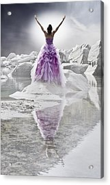 Lady On The Rocks Acrylic Print by Joana Kruse