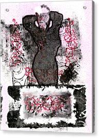 Lady Sings Acrylic Print by Kimanthi Toure