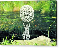 Lady With Ball Acrylic Print by Tommy  Urbans