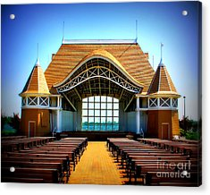 Lake Harriet Bandshell Acrylic Print by Perry Webster