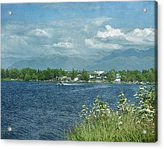 Lake Hood Anchorage Alaska Acrylic Print by Kim Hojnacki
