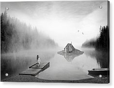 Lake House Acrylic Print by Matt Hanson