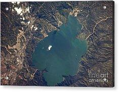 Lake Ilopango, El Salvador Acrylic Print by NASA/Science Source
