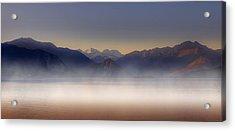 Lake Maggiore And Alps Acrylic Print by Joana Kruse