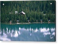 Lake Ohara Lodge And Cabins Acrylic Print by Michael Melford