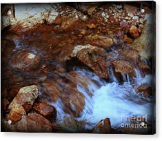 Lake Shasta Waterfall  Acrylic Print by Garnett  Jaeger