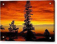 Lake Tahoe Sunset Acrylic Print by Bruce Friedman
