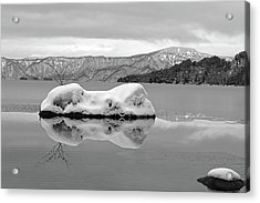 Lake Towada In Winter Acrylic Print by The landscape of regional cities in Japan.