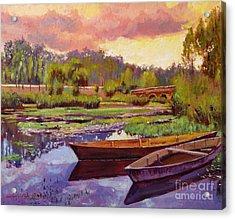 Lakeboats France Acrylic Print by David Lloyd Glover