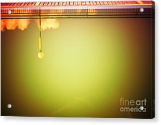 Lamp And Clouds In A Swimming Pool Acrylic Print by Silvia Ganora