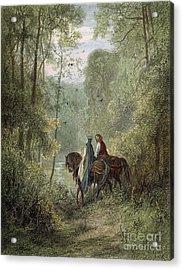 Lancelot & Guinevere Acrylic Print by Granger