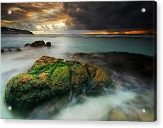 Lands End Acrylic Print by John Chivers