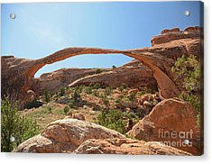 Landscape Arch Acrylic Print by Cassie Marie Photography